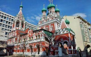 Церковь живоначальной троицы в никитниках, россия, город москва
