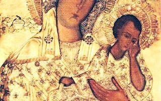Икона божией матери старорусская, россия, новгородская область, город старая русса, храм великомученика георгия победоносца
