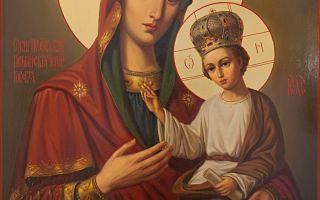 Икона божией матери ильинская-черниговская