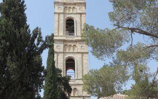 Вознесенский монастырь на елеонской горе, израиль, город иерусалим, елеонская гора