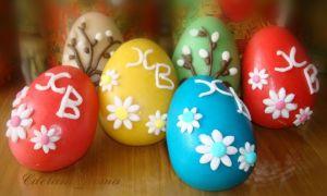 Пасхальные яйца из марципана