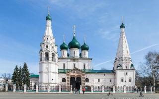 Церковь илии пророка в ярославле, россия, город ярославль