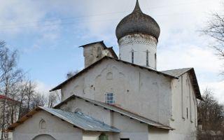 Храм николы со усохи, россия, город псков