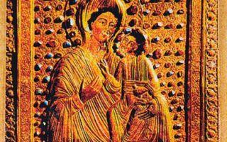 Икона божией матери ацкурская, грузия, город тбилиси, государственный музей искусств грузии