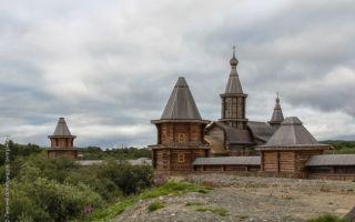 Трифонов печенгский монастырь, россия, мурманская область, поселок луостари