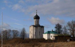 Церковь покрова на нерли, россия, владимирская область, суздальский район, поселок боголюбово