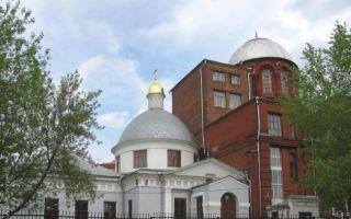 Храм великомученика георгия победоносца в грузинах, россия, город москва