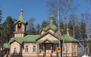 Храм иоанна богослова и просветителей карельских в йоэнсуу, финляндия, город йоэнсуу (joensuu)