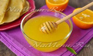 Апельсиновый соус с маком и медом