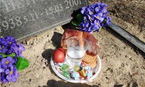 На пасху — на кладбище???