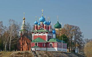 Церковь димитрия царевича «на крови», россия, город углич, кремль