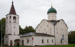 Церковь феодора стратилата на ручью, россия, город великий новгород