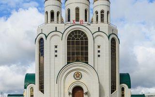 Храм христа спасителя в калининграде, россия, город калининград