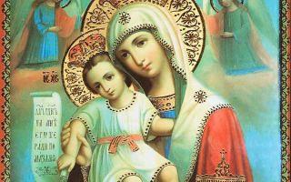 Икона божией матери «достойно есть» («милующая»), греция, афон, карея, собор успения пресвятой богородицы