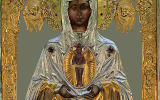 Икона божией матери албазинская «слово плоть бысть», россия, город благовещенск