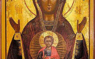 Икона божией матери «знамение» верхнетагильская, россия, свердловская область, город верхний тагил, храм в честь иконы божьей матери «знамение»