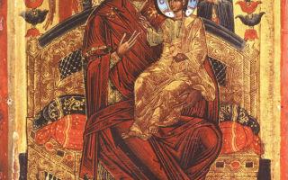 Икона божией матери «всецарица» («пантанасса»), греция, афон, монастырь ватопед