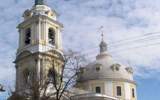 Храм вознесения господня на гороховом поле, россия, город москва