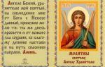 Молитвы ангелу-хранителю на все случаи жизни – небесным силам (ангелам)