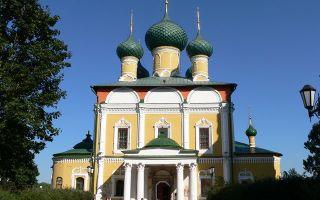 Собор спаса преображения в угличе, россия, город углич