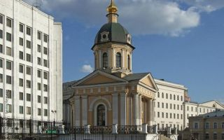 Часовня бориса и глеба на арбатской площади, россия, город москва