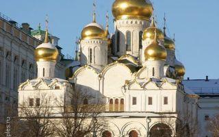 Собор благовещения богородицы московского кремля, россия, город москва, кремль