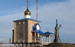 Храм николая чудотворца на земле франца-иосифа, россия, архангельская область, земля франца-иосифа, земля александры