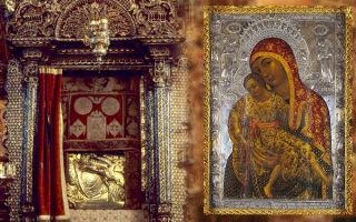 Икона божией матери киккская («милостивая»), остров кипр, киккский монастырь
