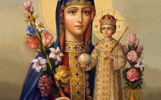 Икона божией матери «неувядаемый цвет»