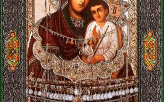 Икона божией матери святогорская, украина, донецкая область, славянский район, город святогорск, успенский собор святогорской лавры