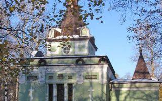 Часовня ксении петербургской на смоленском кладбище, россия, город санкт-петербург