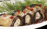 Печеные баклажаны по-грузински