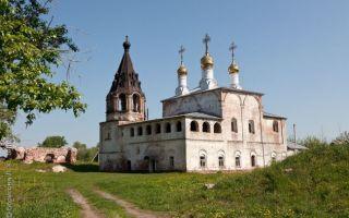Борисоглебский муромский монастырь, россия, владимирская область, село борисоглеб