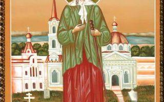 Икона святой блаженной ксении петербургской, россия, город санкт-петербург