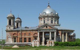 Церковь сошествия святого духа в шкини, россия, московская область, село шкинь