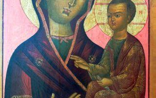Икона божией матери «одигитрия» выдропужская, россия, тверская область, спировский район, село выдропужск, церковь смоленской иконы божией матери