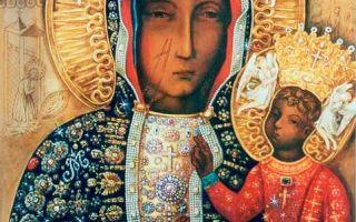 Икона божией матери ченстоховская, польша, город ченстохова, монастырь ясна гора