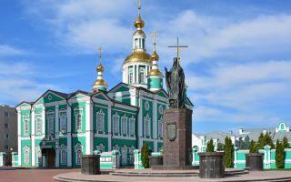 Собор спаса преображения в тамбове, россия, город тамбов