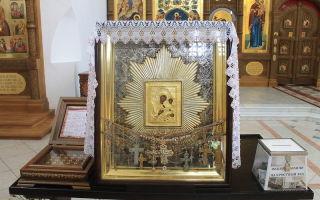 Икона божией матери «избавительница от бед» (ташлинская), россия, самарская область, ставропольский район, село ташла, церковь святой троицы