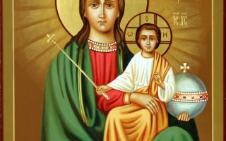 Икона божией матери «прежде рождества и по рождестве дева»
