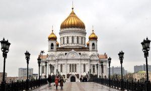 Храм христа спасителя, россия, город москва