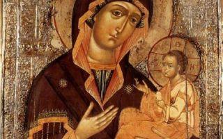 Икона божией матери грузинская